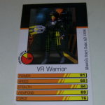 Action Man Power Cards 1996 VR Warrior Trading card @sold@